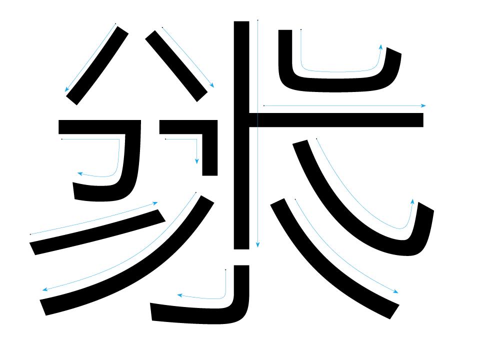 黑体文字设计排版
